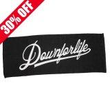 DOWN FOR LIFE CLOTHING - Script Logo フェイスタオル 黒