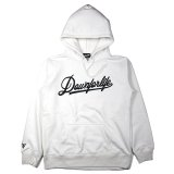 DOWN FOR LIFE CLOTHING - Script Logo フードパーカー 白
