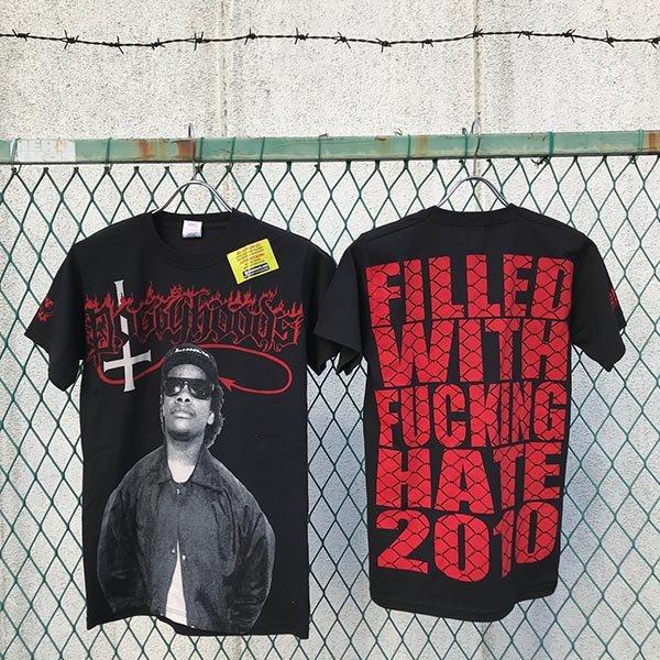 画像1: DOGGY HOOD$ - FWH Tシャツ 黒