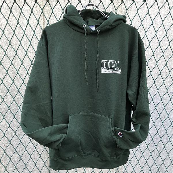 画像2: DOWN FOR LIFE CLOTHING - True School フードパーカー 深緑