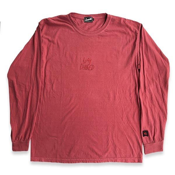画像1: DOWN FOR LIFE CLOTHING - Stay Chilled 長袖Tシャツ 赤
